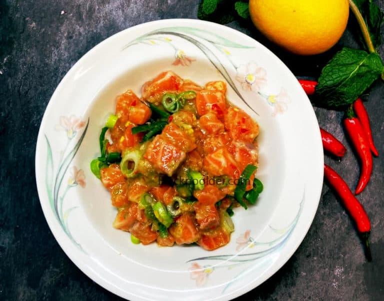 ก้อย วาซาบิ salmon รสเด็ด